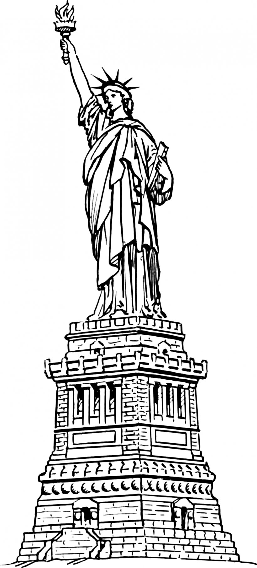 Statue Of Liberty Clip Art, PNG, 1013x2236px, Statue Of.