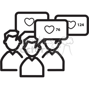 group like mood icon clipart. Royalty.