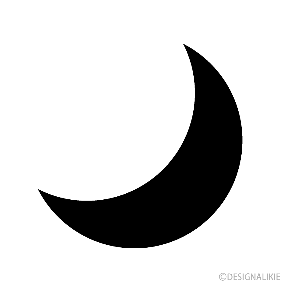 Free Moon Symbol Clipart Image|Illustoon.