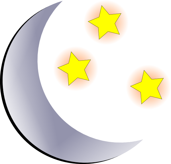 796 Moon And Stars free clipart.