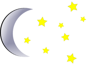 Moon And Stars Clip Art at Clker.com.