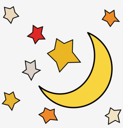 moon and stars , Free clipart download.