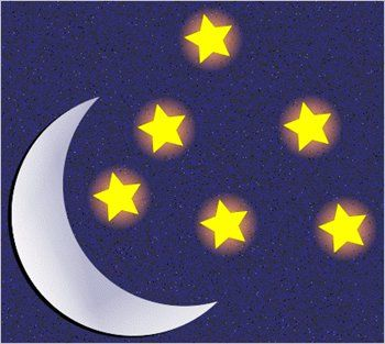 clipart moon and stars #7