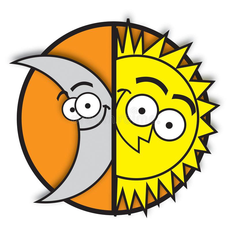 Moon Sun Stock Illustrations.