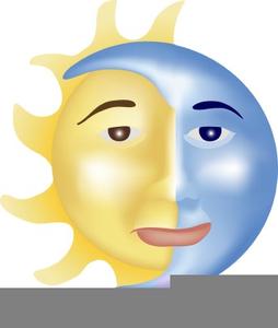 Sun Moon Stars Clipart.