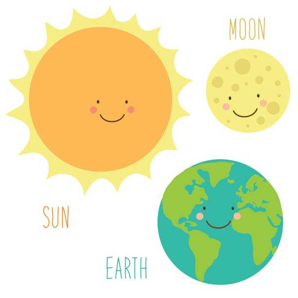 Best Smiling Earth Moon And Sun Illustrations, Royalty.