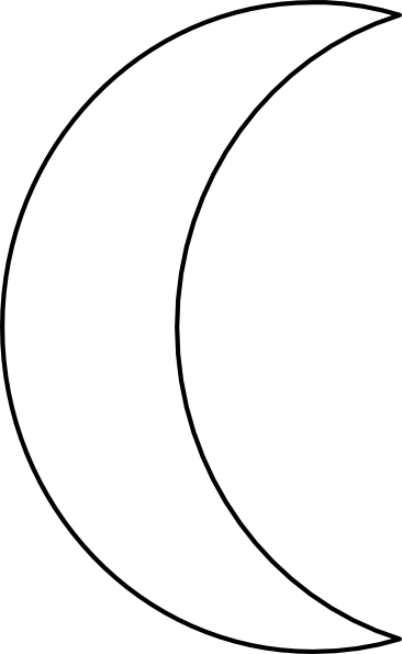 Moon Clipart Black And White Png.