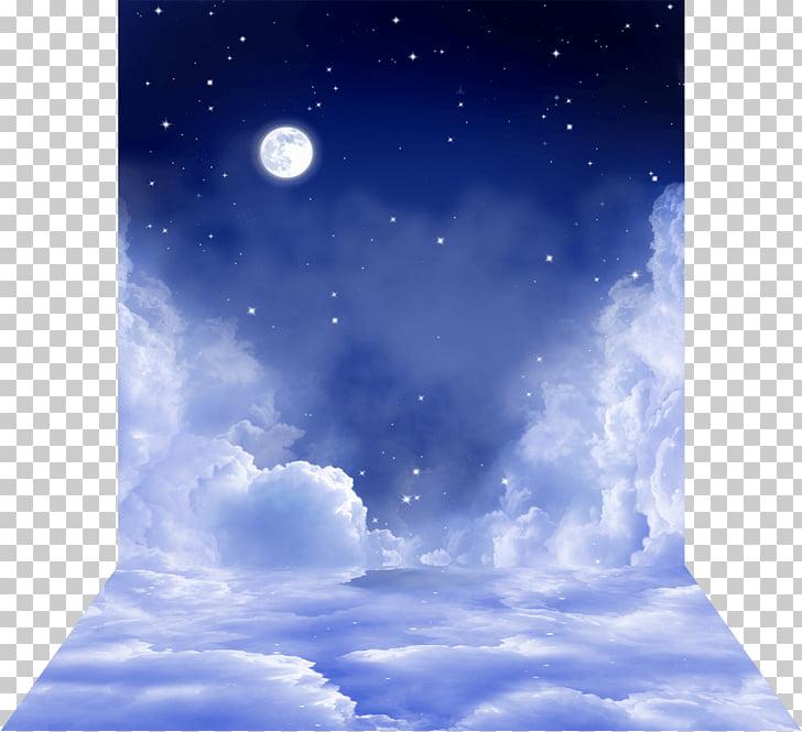 Desktop Moonlight Sky, moon PNG clipart.
