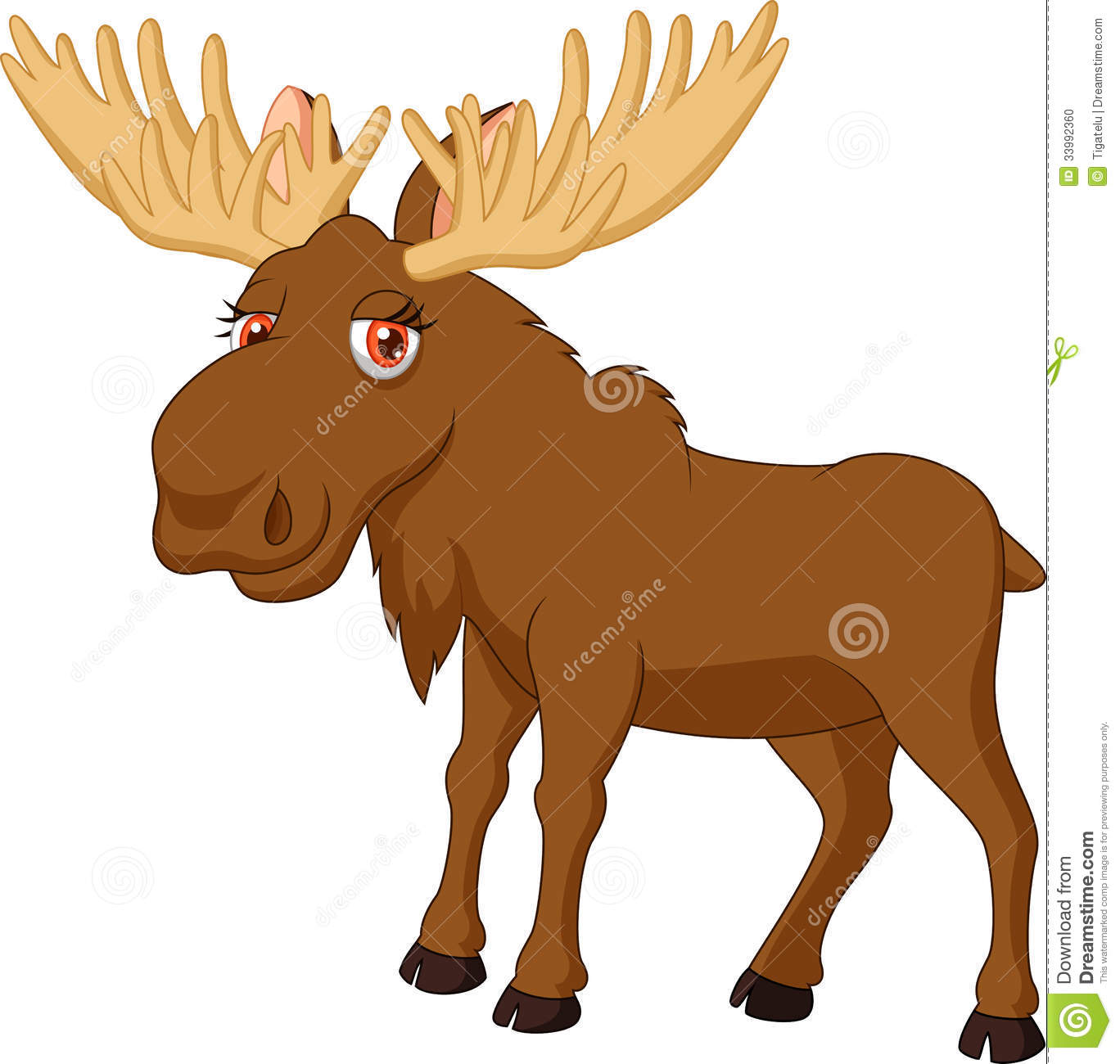 Funny Moose Clipart.