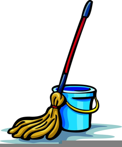 Free Clipart Mop And Bucket.