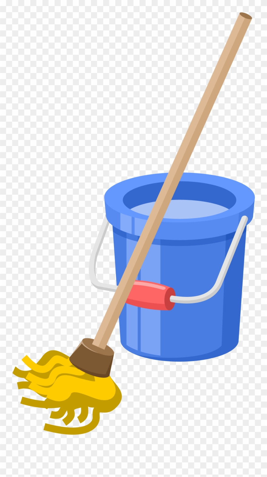 Clean Vector Mop Bucket.