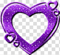 Corazon D morado transparent background PNG clipart.