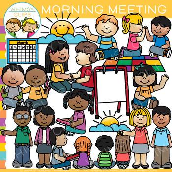 Morning Meeting Clip Art {School Clip Art}.