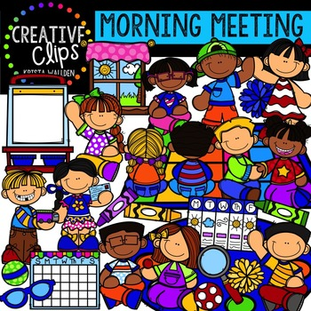 Morning Meeting {Creative Clips Digital Clipart}.