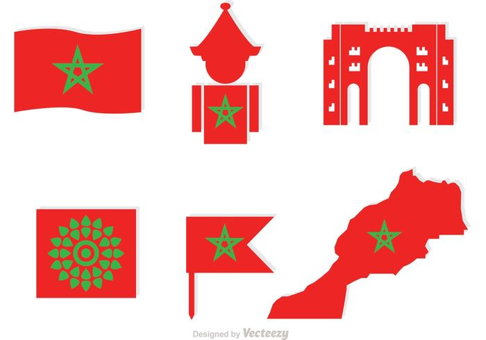 Morocco Element Icons Vector.