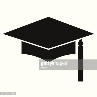 Mortar Board or Graduation Cap, Education symbol Clipart.