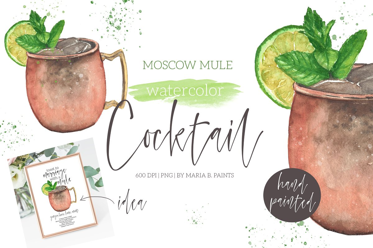 Moscow Mule Cocktail Clipart ~ Illustrations ~ Creative Market.