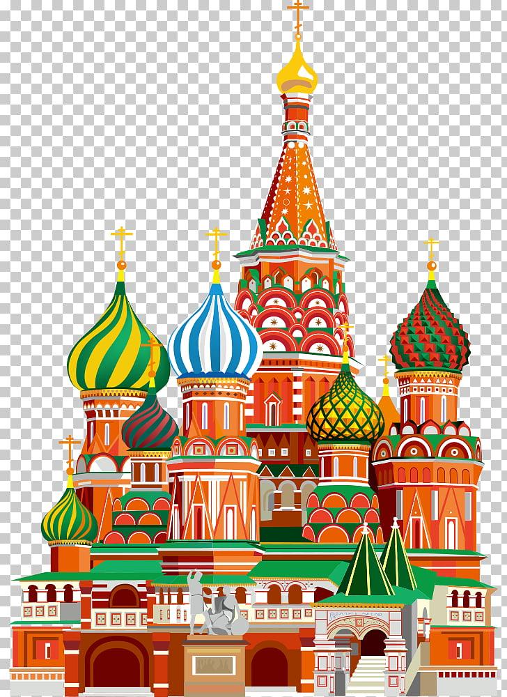 Moscow Kremlin Saint Basils Cathedral Red Square Landmark.