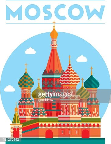 Moscow illustration Clipart Image.