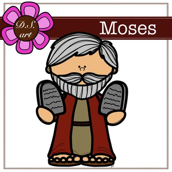Moses Digital Clipart (color and black&white).