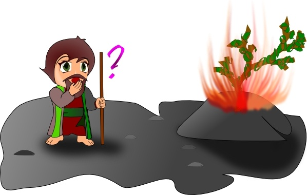 Moses And The Burning Bush Chibi Version clip art Free vector in.