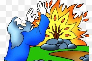 Moses and the burning bush clipart 3 » Clipart Portal.