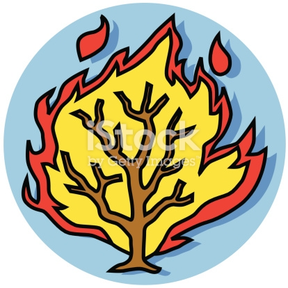 Free download of Moses And The Burning Bush Chibi Version clip art.
