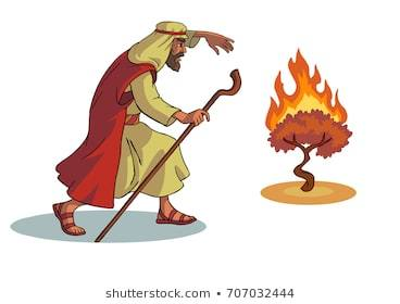 Clipart of moses and burning bush 3 » Clipart Portal.