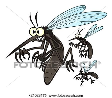 Mosquitoes Clipart.