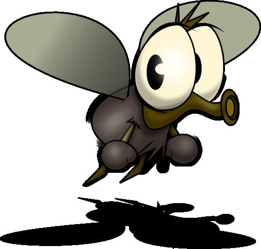 Mosquito Cartoon clipart.