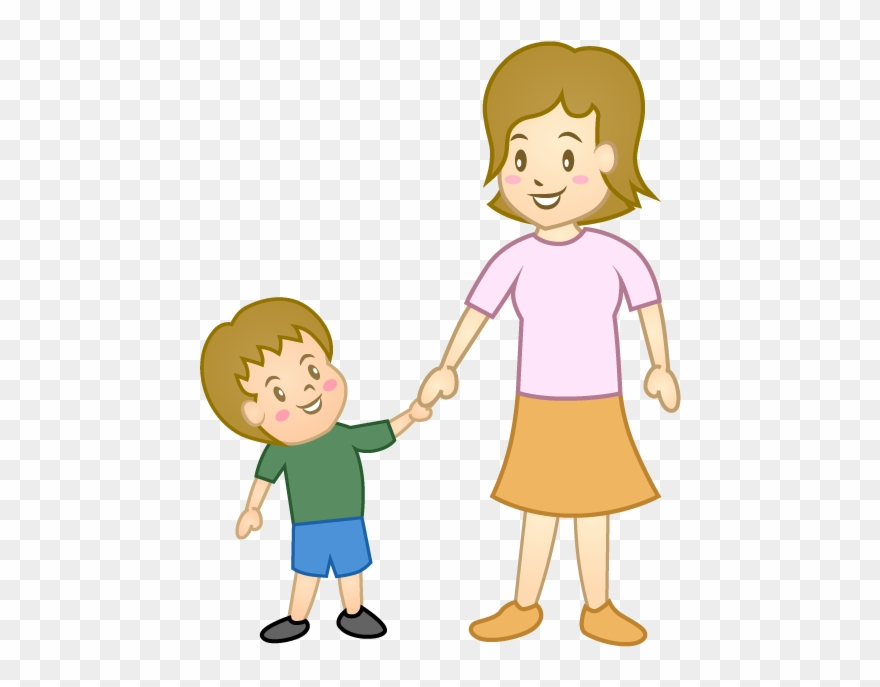 Child And Mother Clipart.