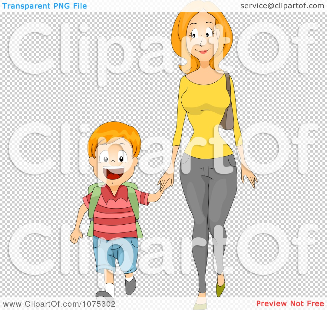 clipart mother and child holding hands #15