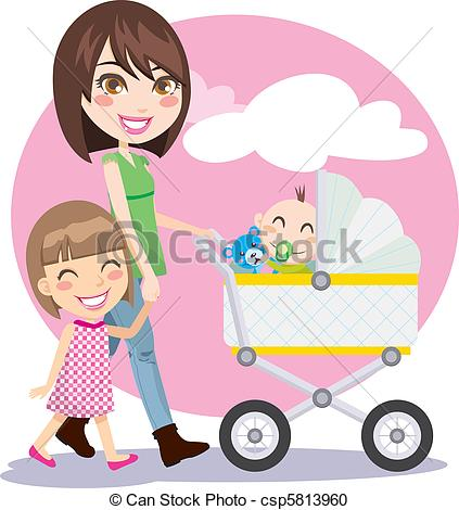 Clipart Mother And Child Holding Hands.