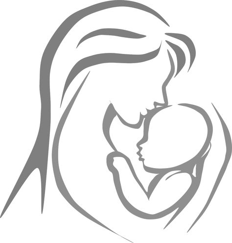 Mother and child pictures clip art.