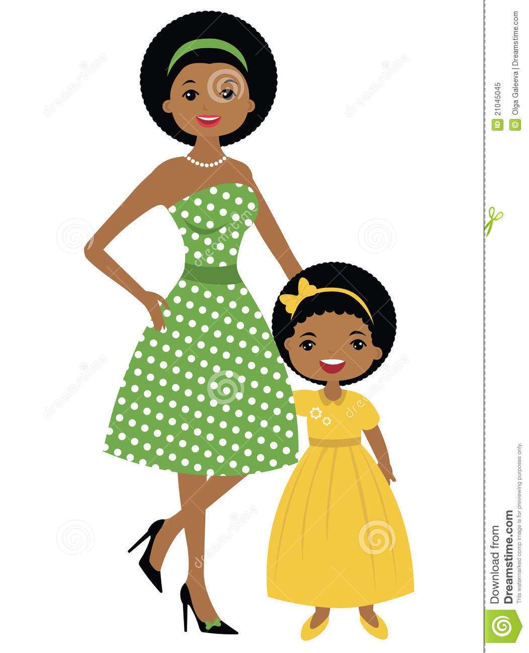 Clipart Mother Daughter