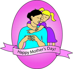 Mothers Day Clipart Image.