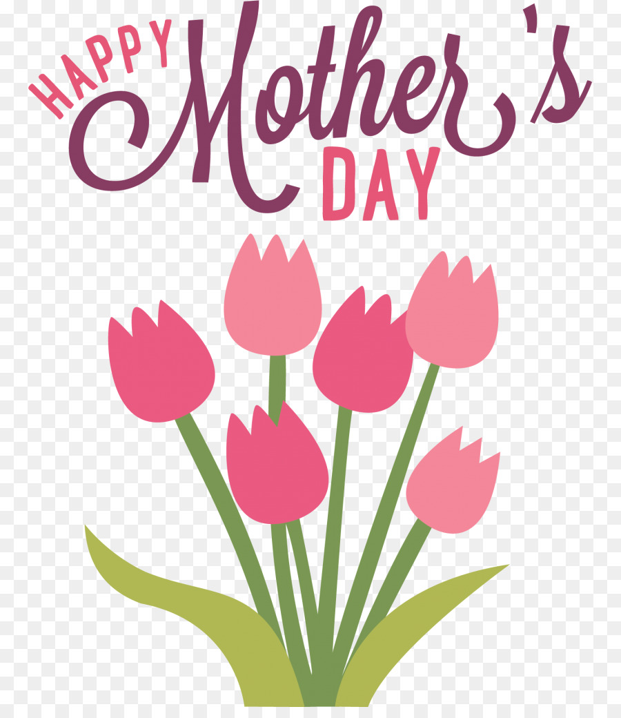 Flower Cartoon Mothers Day clipart.
