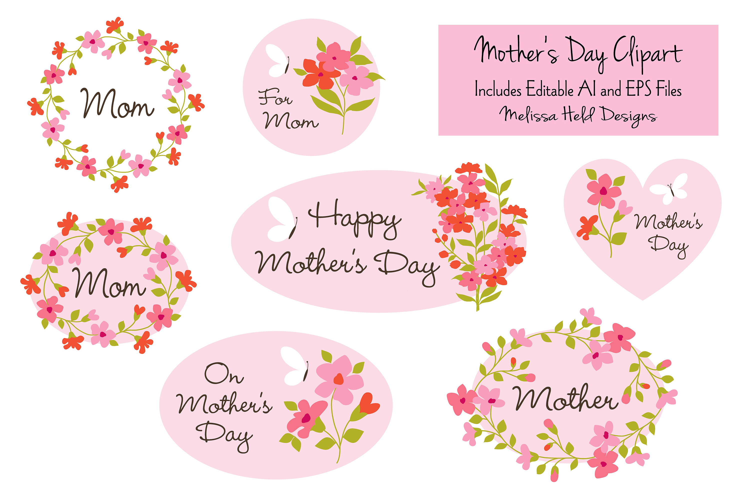 Mothers Day Clipart.
