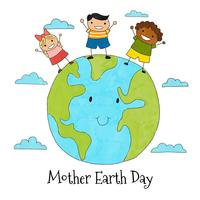 Mother Earth Day Free Vector Art.