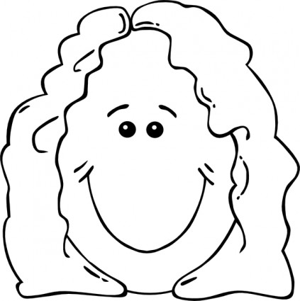 Mother Face Clipart.