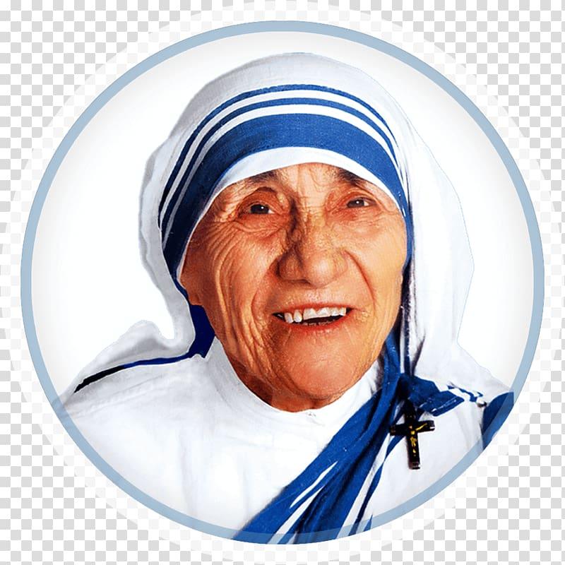 Woman wearing white top, Mother Teresa Foundation Saint Nun.