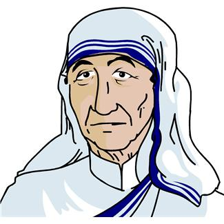 Mother teresa clipart 4 » Clipart Station.