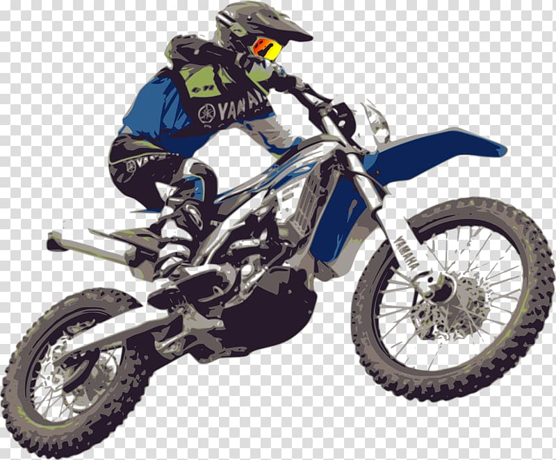 Man riding dirt bike art, Motocross KTM Enduro motorcycle.