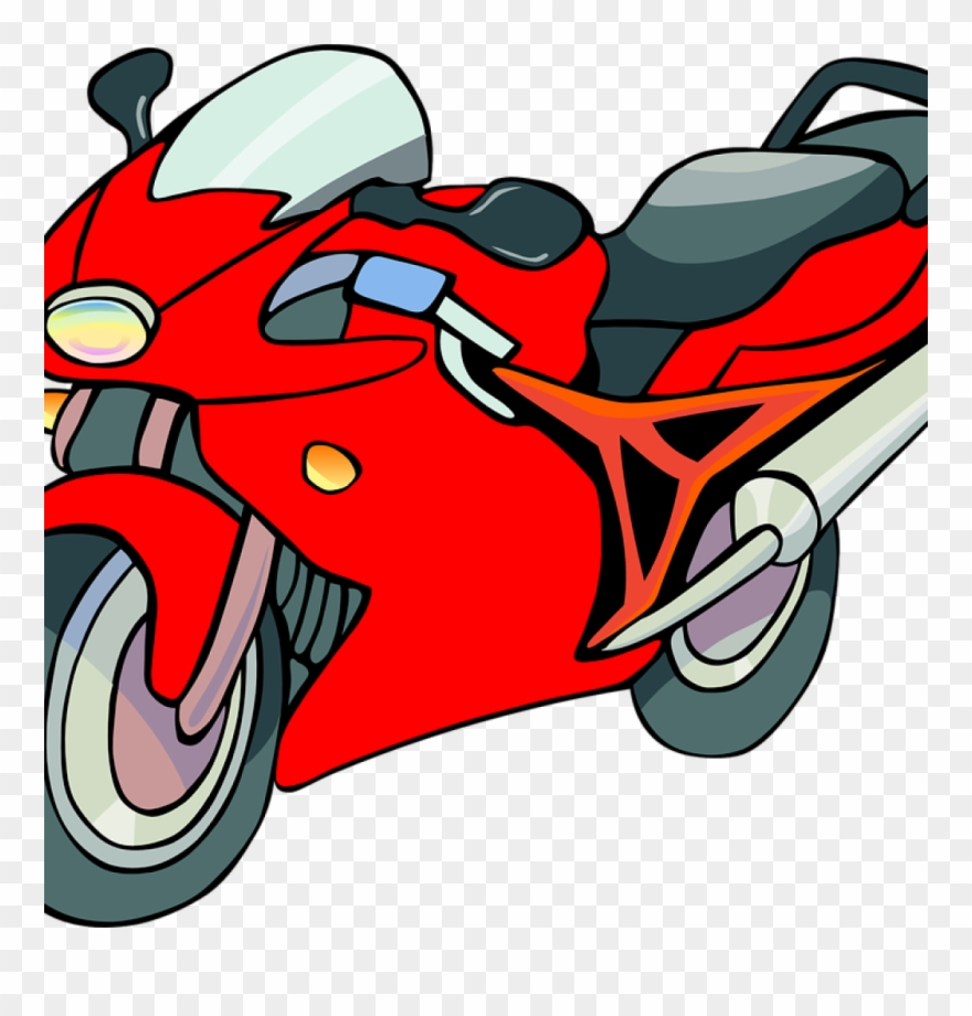 Motorcycles Clipart Motorcycle Bike Red Free Vector.