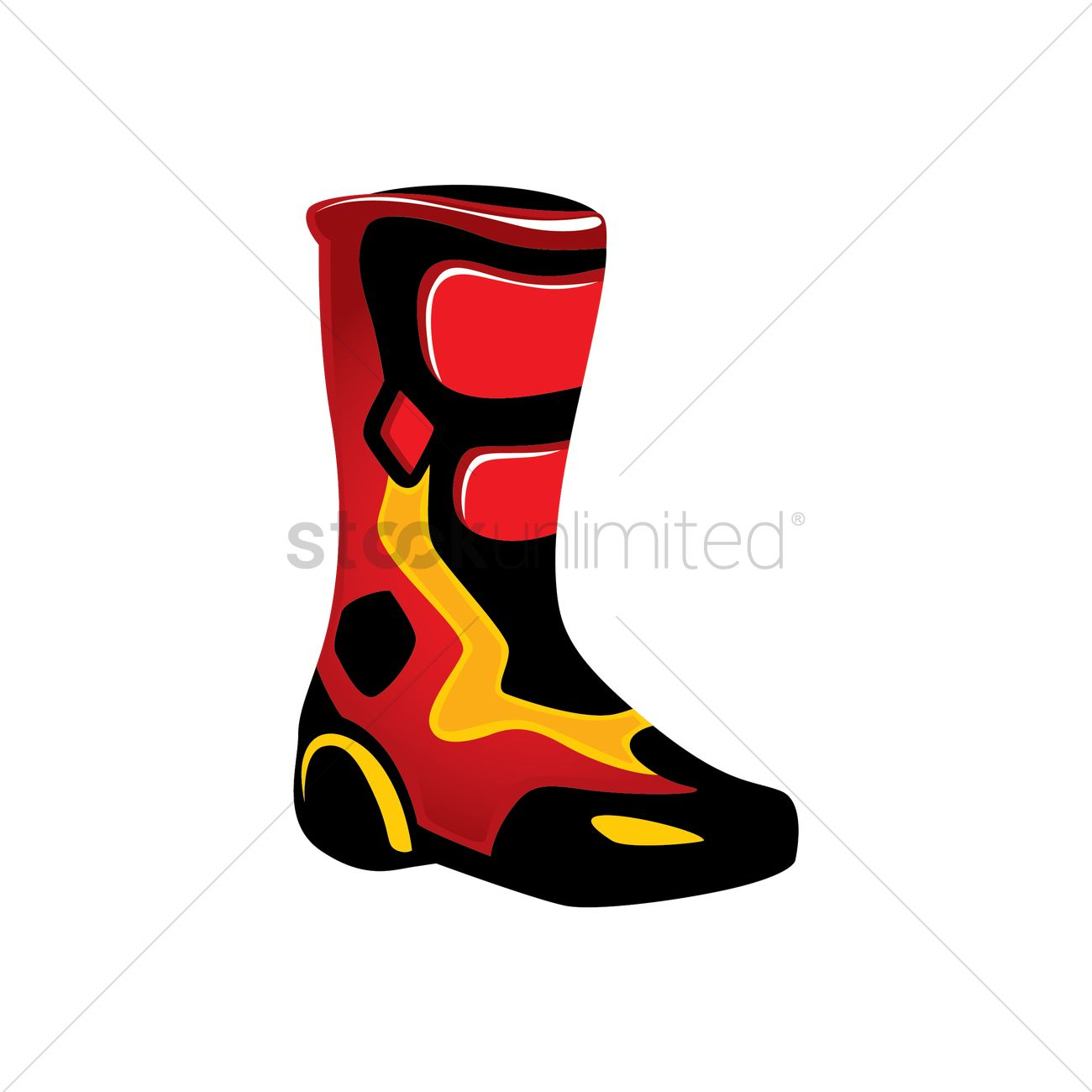 Motorcycle boots Vector Image.