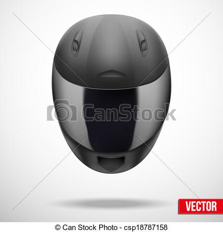 Clipart Vector of High quality light gray motorcycle helmet vector.
