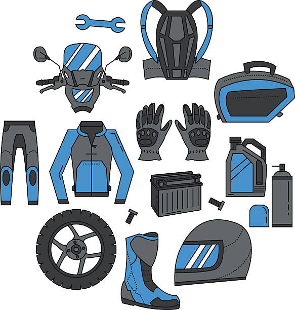 Motorcycle Jacket Clip Art, Vector Images & Illustrations.