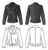 Black Leather Jackets Clip Art.