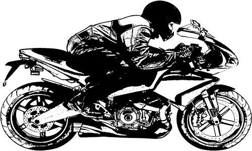 motorcycle rider biker printables clipart png clip art.