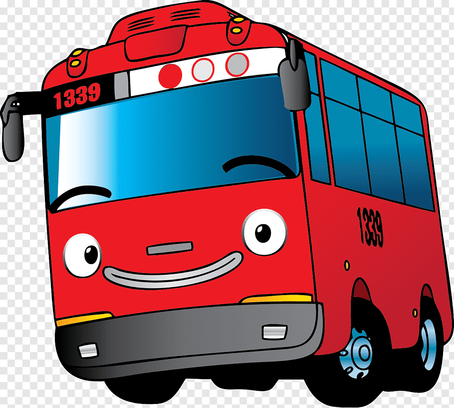 Bus Car Motor vehicle Mode of transport, tayo, red and blue.